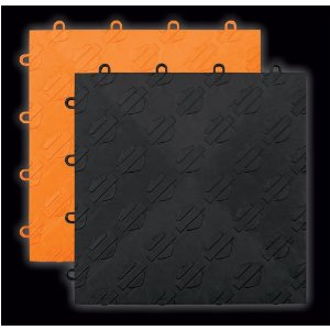 Harley Parking Kit, RaceDeck garage floor tiles