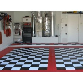 buy complete kit-garage floor tiles in checker pattern - read
